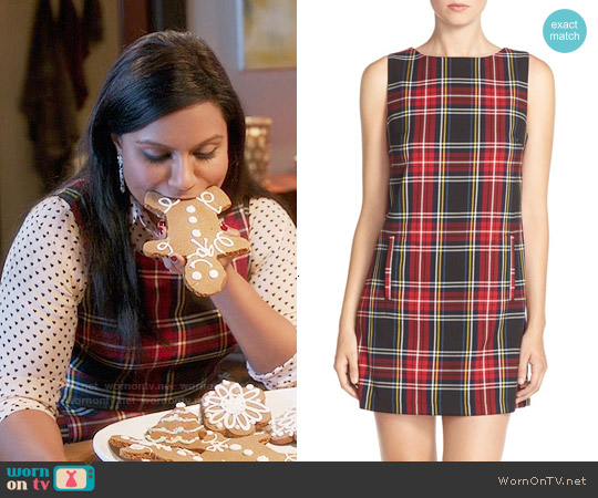 BB Dakota Harlow Plaid Shift Dress worn by Mindy Kaling on The Mindy Project