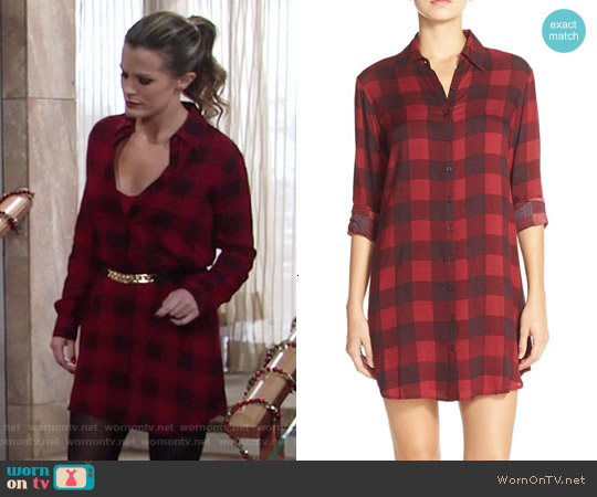 BB Dakota Kendrick Gingham Shirtdress worn by Melissa Claire Egan on The Young & the Restless