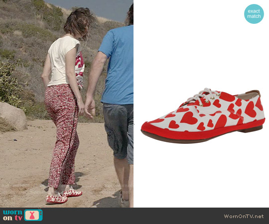 BC Footwear Unicorn Flat in Hearts worn by Kristen Schaal on Last Man On Earth