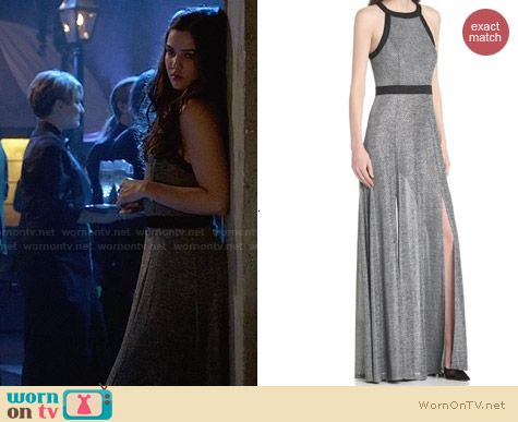 BcbGeneration Back Cutout Maxi Dress worn by Danielle Campbell on The Originals