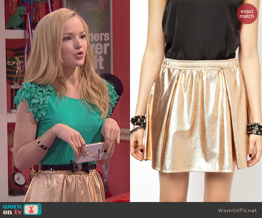 Bcbgeneration Metallic Skirt worn by Dove Cameron on Liv & Maddie