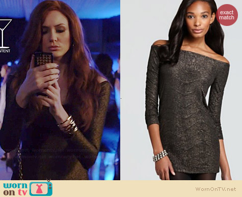 Bcbgeneration Off Shoulder Dress worn by Karen Gillan on Selfie