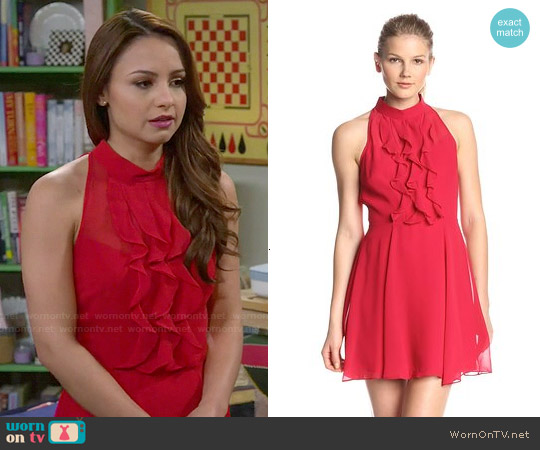 Bcbgeneration Ruffle Front Dress worn by Aimee Carrero on Young & Hungry