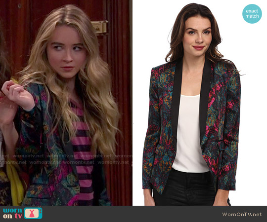 Bcbgeneration Shell Collar Blazer worn by Sabrina Carpenter on Girl Meets World