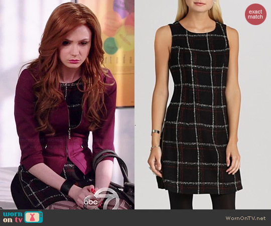 Bcbgeneration Windowpane Multiway Dress worn by Karen Gillan on Selfie