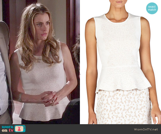 Bcbgmaxazria Alyonya Lace Top worn by Brianna Brown on Devious Maids