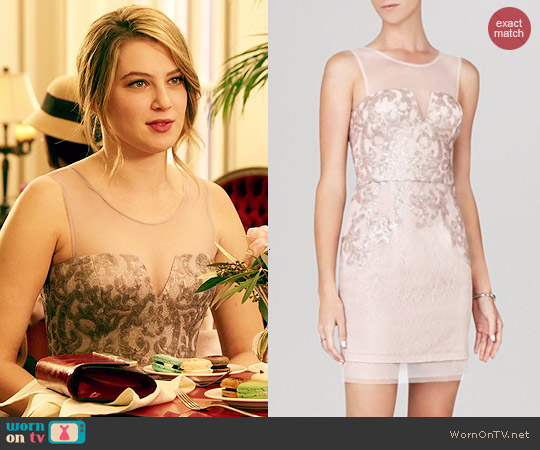 Bcbgmaxazria Abigail Illusion Dress worn by Zoe Levin on Red Band Society