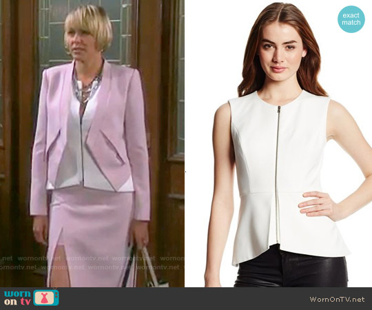 Bcbgmaxazria Abrielle Peplum Top worn by Arianne Zucker on Days of our Lives