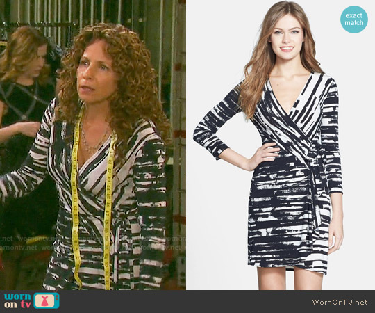 Bcbgmaxazria Adele Dress in Black Combo worn by Meredith Scott Lynn on Days of our Lives