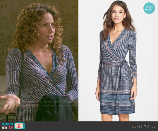 Bcbgmaxazria Adele Dress in Dark Ink Brushstroke worn by Meredith Scott Lynn on Days of our Lives