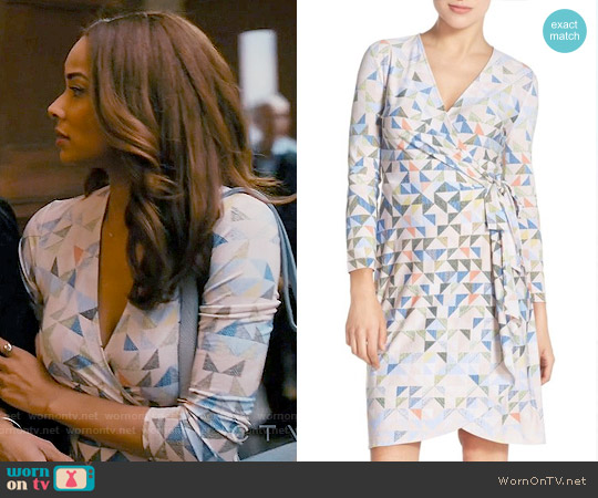 Bcbgmaxazria Adele Triangle Print Dress worn by Rochelle Aytes on Mistresses