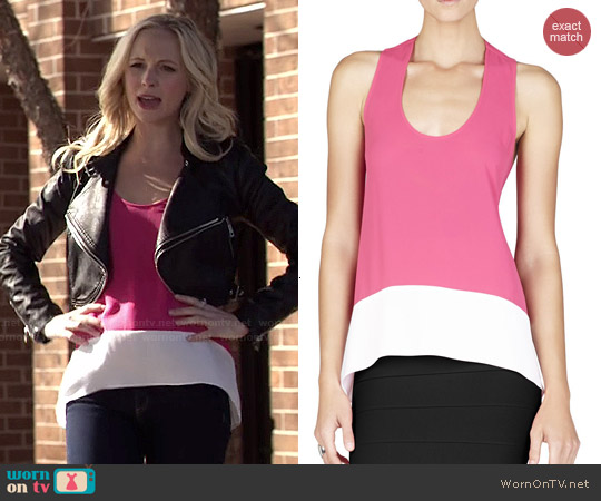 Bcbgmaxazria Allison Colorblock Top worn by Candice Accola on The Vampire Diaries