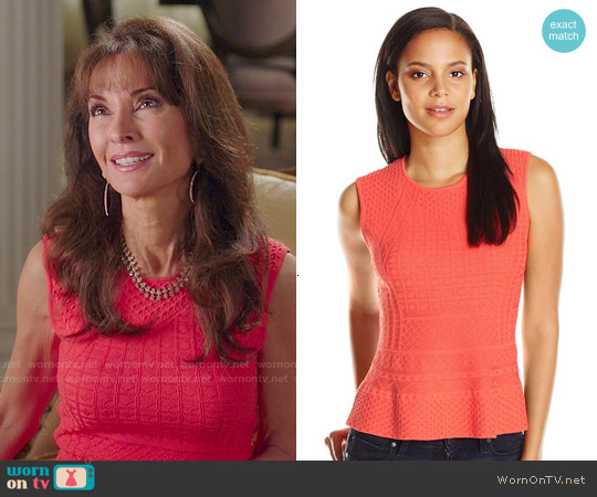 Bcbgmaxazria Alyona Peplum Top worn by Susan Lucci on Devious Maids
