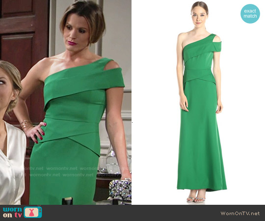 Bcbgmaxazria Annely Gown in Malachite worn by Melissa Claire Egan on The Young & the Restless