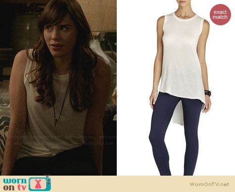 Bcbgmaxazria Sleeveless Asymmetrical T-Shirt worn by Christa Allen on Revenge