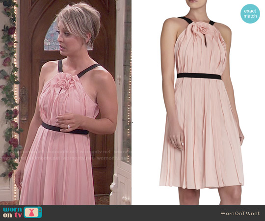 Bcbgmaxazria Bianca Dress in Petal worn by Kaley Cuoco on The Big Bang Theory