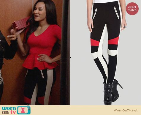 Bcbgmaxazria Bond Colorblock Leggings worn by Naya Rivera on Glee