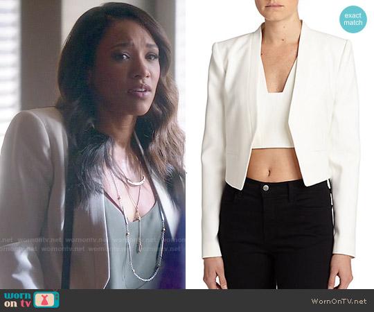 Bcbgmaxazria Bren Cropped Blazer worn by Candice Patton on The Flash