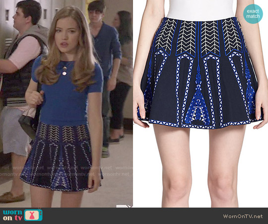 Bcbgmaxazria Bronwyn Skirt worn by Willa Fitzgerald on Scream