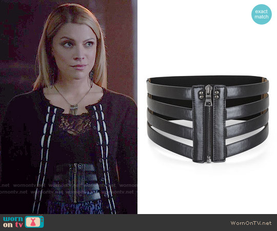 Bcbgmaxazria Cage Zip Waist Belt worn by Mary Louise on The Vampire Diaries