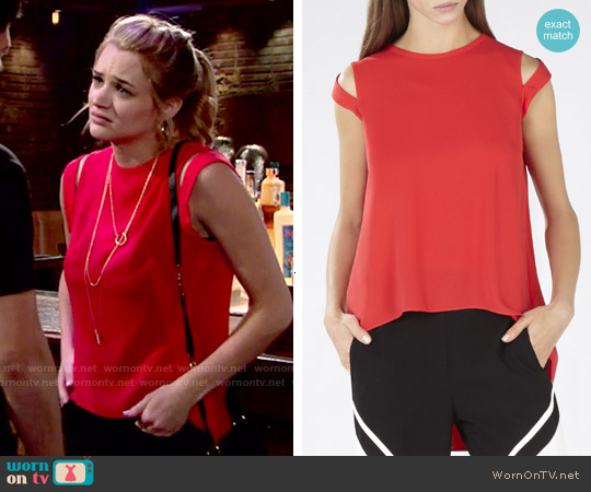 Bcbgmaxazria Calin Top worn by Hunter King on The Young & the Restless