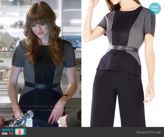 Bcbgmaxazria Cassaundra Top worn by Danielle Panabaker on The Flash