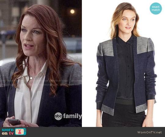 Bcbgmaxazria Cliff Blocked Blazer worn by Ashley Marin on PLL