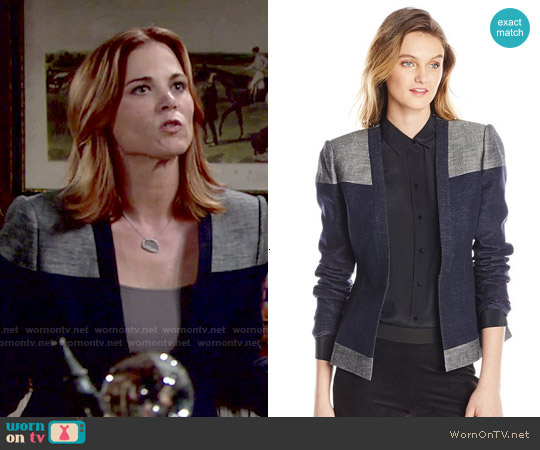 Bcbgmaxazria Cliff Blocked Blazer worn by Gina Tognoni on The Young & the Restless