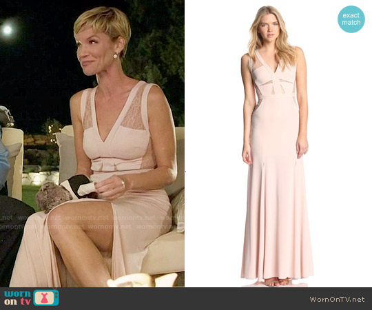 Bcbgmaxazria 'Cristy' Gown in Bare Pink worn by Ashley Scott on UnReal