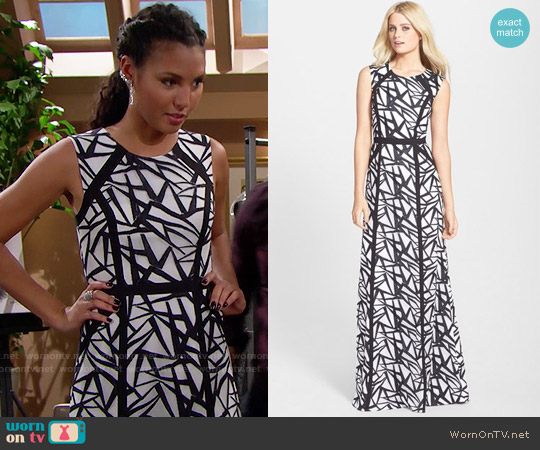 Bcbgmaxazria Daniela Sketching Gown worn by Felisha Cooper on The Bold & the Beautiful