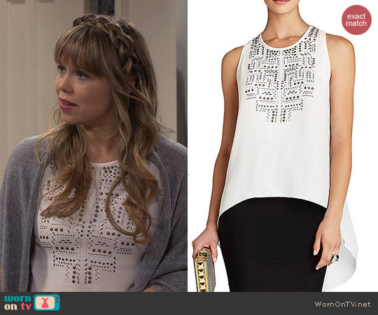 Bcbgmaxazria Danna Embellished Top worn by Amanda Fuller on Last Man Standing