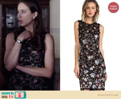 Bcbgmaxazria Diane Dress worn by Troian Bellisario on PLL
