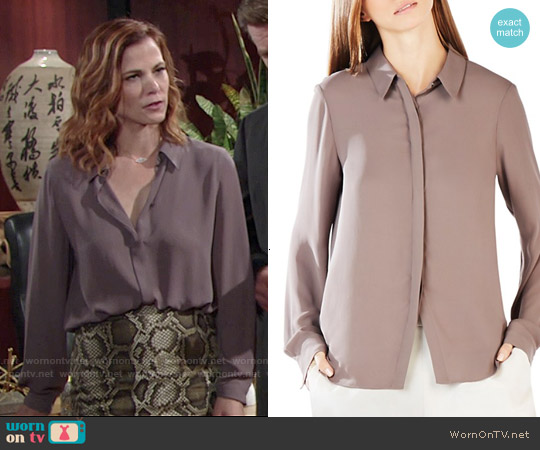 Bcbgmaxazria Dianna Shirt worn by Phyllis Newman on The Young & the Restless