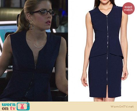 Bcbgmaxazria Ellen Dress worn by Emily Bett Rickards on Arrow