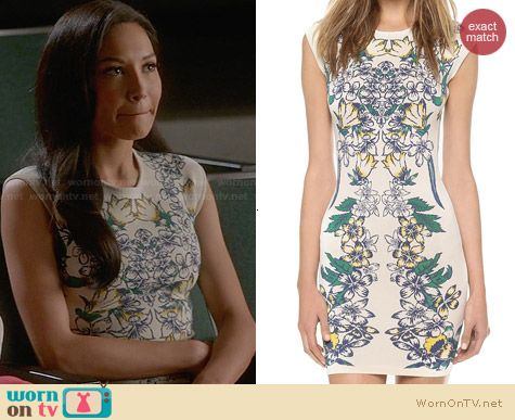 Bcbgmaxazria Ellena Dress in Tiger Lily worn by Naya Rivera on Glee