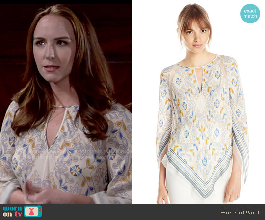 Bcbgmaxazria Elyza Top worn by Camryn Grimes on The Young & the Restless