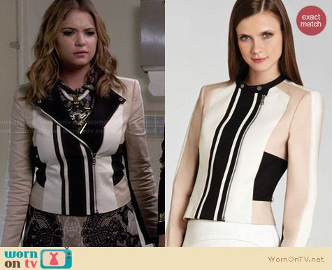 Bcbgmaxazria Erin Jacket worn by Ashley Benson on PLL