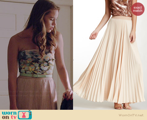 Bcbgmaxazria Estel Pleated Maxi Skirt worn by Christa Allen on Revenge