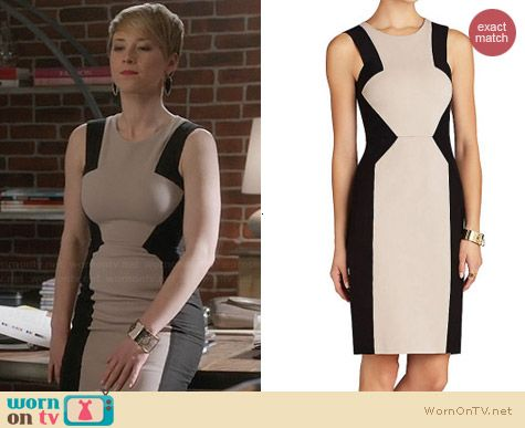 Bcbgmaxazria Evelyn Dress worn by Karine Vanasse on Revenge