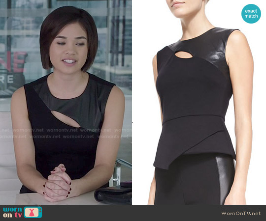 Bcbgmaxazria Farrah Top worn by Nicole Gale Anderson on Beauty & the Beast