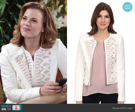 Bcbgmaxazria Floyd Jacket worn by Gina Tognoni on The Young & the Restless