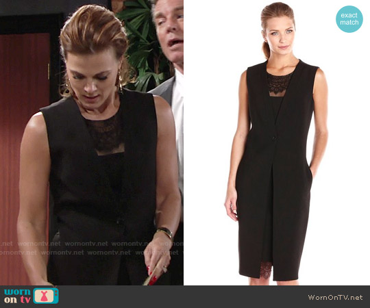 Bcbgmaxazria Foster Vest Dress worn by Gina Tognoni on The Young & the Restless