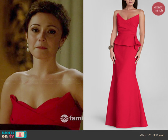Bcbgmaxazria Gracie Gown in Red worn by Italia Ricci on Chasing Life
