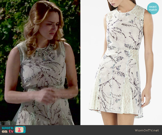 Bcbgmaxazria Gwenyth Dress in Light Mint Combo worn by Hunter King on The Young & the Restless