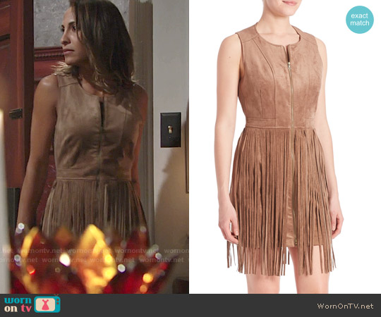 Bcbgmaxazria Hamin Suede Dress worn by Christel Khalil on The Young & the Restless