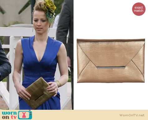 Bcbgmaxazria Harlow Clutch worn by Karine Vanasse on Revenge
