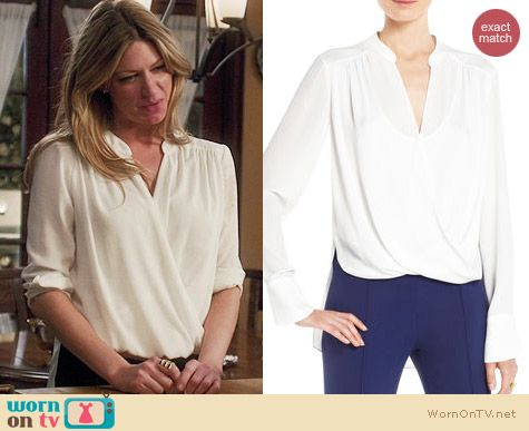 Bcbgmaxazria Jaklyn Blouse worn by Jess Macallan on Mistresses