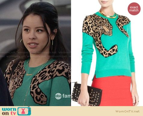 Bcbgmaxazria Jaxin Sweater worn by Mariana on The Fosters