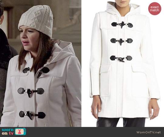 Bcbgmaxazria Jenny Toggle Coat worn by Casey Wilson on Marry Me