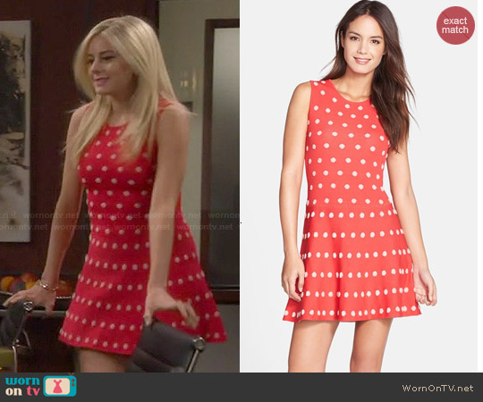 Bcbgmaxazria Jo Dotted Dress worn by Justine Lupe on Cristela